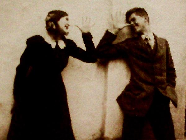Beata z bratem Ludwikiem (Lukiem) Wolskim, który został rozstrzelany w Złoczowie w kwietniu 1919 r.
