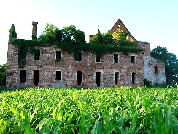 Ruiny plebanii w Kisielinie, 2011 r. (Fot. Konstanty Czawaga)