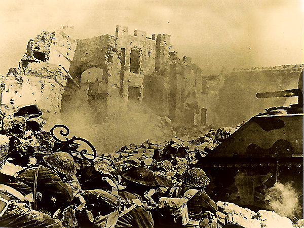 Walki o Monte Cassino, `44 r. (Fot. cassinobattlefields.co.uk)