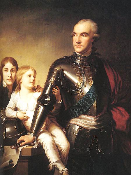 Stanisław Szczęsny Potocki wraz z synami Stanisławem i Szczęsnym Jerzym, obraz pędzla Jana Chrzciciela Lampiego (Fot. commons.wikimedia.org)