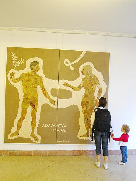 Adam i Ewa by Dürer (Fot. Konstanty Czawaga)