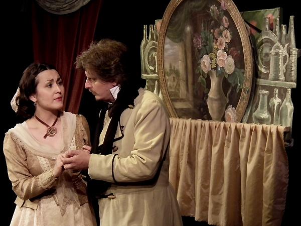 """Anna Koziejowska jako """"Panna Małgorzata"""" i Wiktor Lafarowicz jako """"Edmund"""" (Fot. Krzysztof Szymański)"""