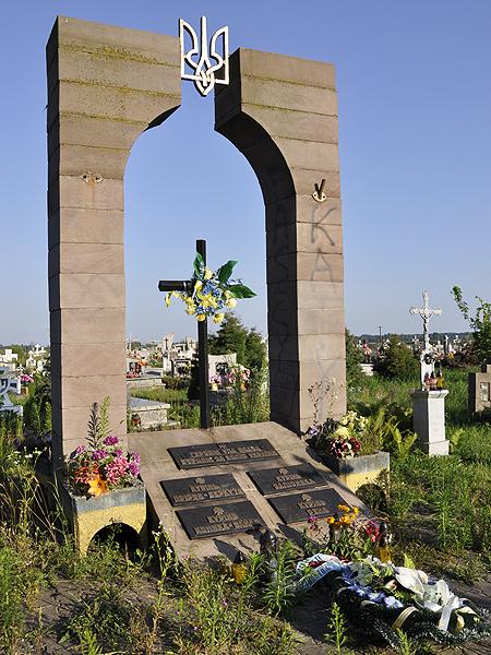 Nielegalny pomnik w Hruszowicach