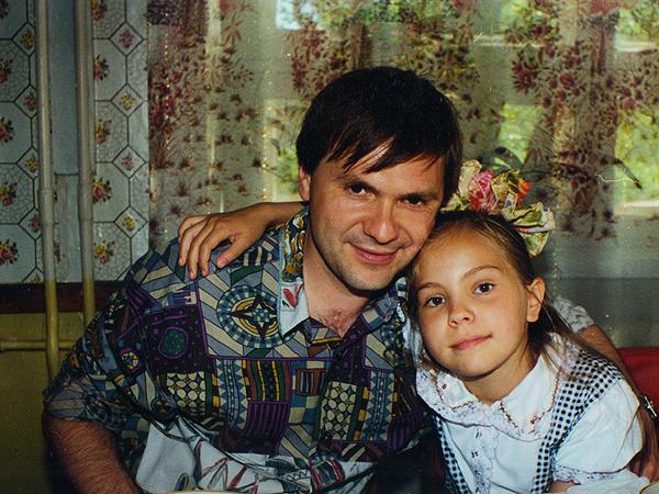 Wnuk Józefa Zamborskiego Włodzimierz z córeczką Zosią, pozostałe w Karelii (Petrozawodsk, 1994 r.)