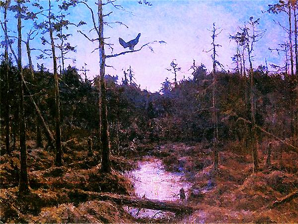 Henryk Weyssenhoff, Tajemnicza pieśń. Głuszec, 1921 (Fot. Muzeum Narodowe w Warszawie/pinakoteka.zascianek.pl)