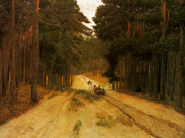 Józef Chełmoński, Droga w lesie (Fot. 3.bp.blogspot.com)