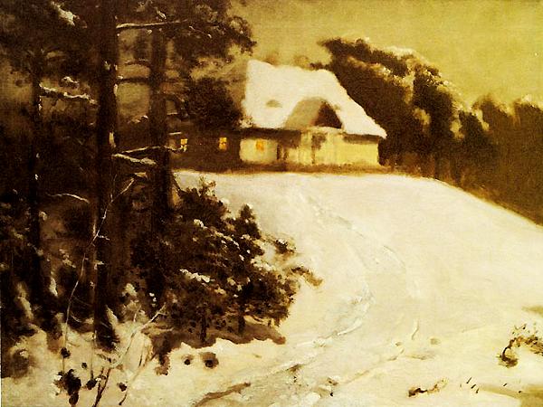 Józef Chełmoński, Dworek o zmierzchu (Fot. 2.bp.blogspot.com)