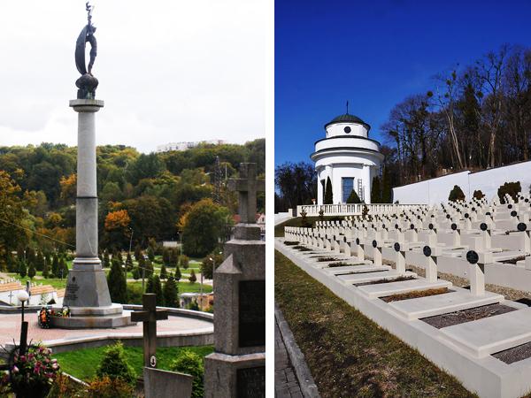"""Cmentarz Strzelców Siczowych i cmentarz  """"Orląt Lwowskich"""" (Fot. archiwum KG)"""