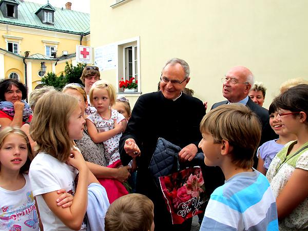 Spotkanie z  ks. bp. Antonim Długoszem (Fot. Grażyna Bereza)