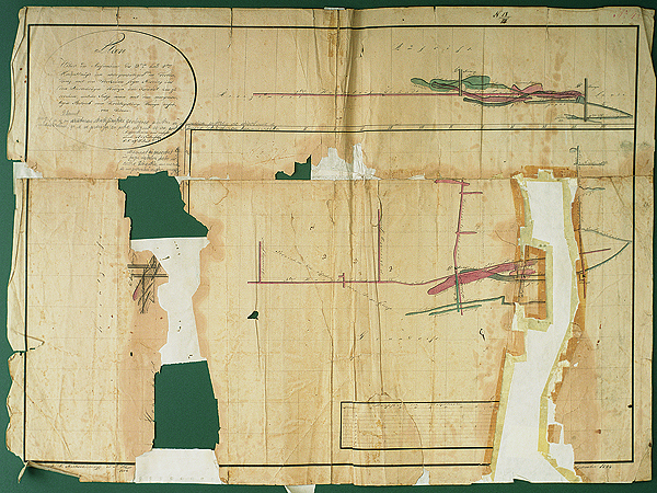 Mapa saliny kaczyckiej z 1824 r. (Fot. Marcin Marynowski)