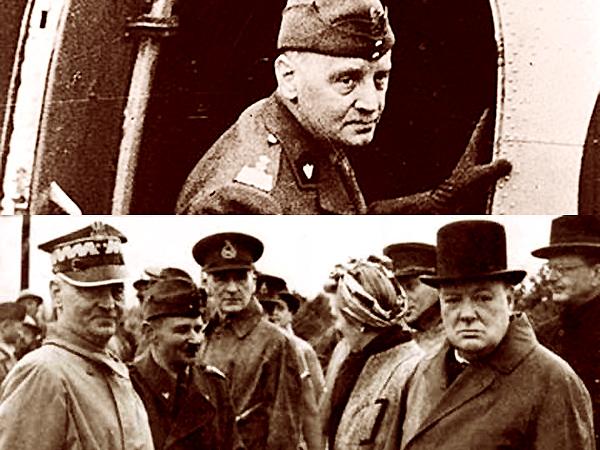 Generał Sikorski, udaje się samolotem na rozmowy z Churchillem. Poczym już w Anglii, już z nowym protektorem, już pewny siebie (Fot. wiadomosci.wp.pl/sww.w.szu.pl)