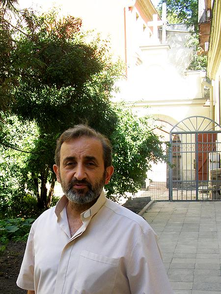 Proboszcz katedry Ormiańskiej we Lwowie ks. Tadeos Geworgian (Fot. Jurij Smirnow)