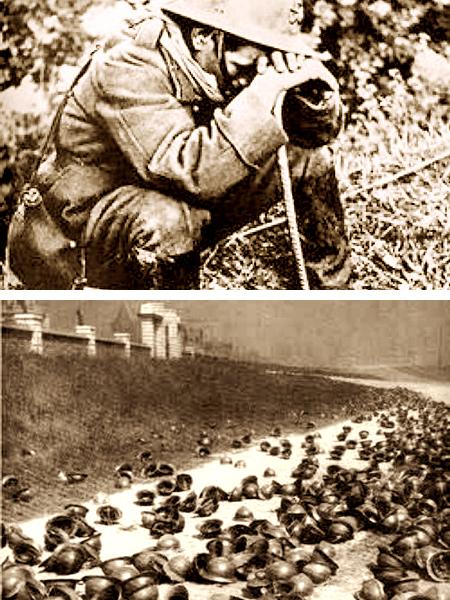 Niesławny upadek Wielkiej Francji. Po naszych sojusznikach zostały tylko ich hełmy (Fot. drugawojna.ovh.org)