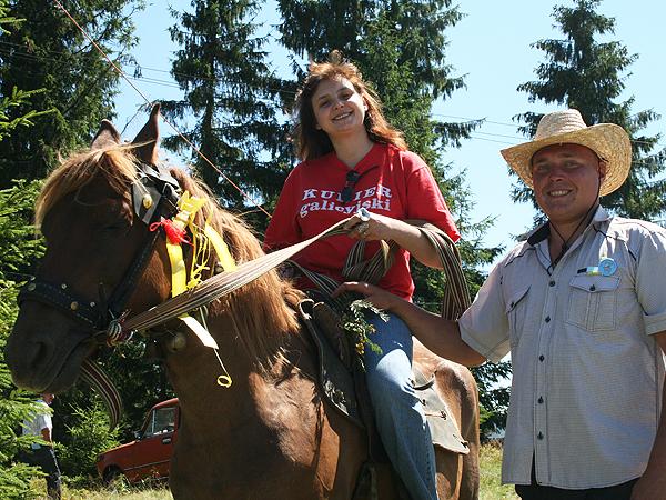 Autorka artykułu pohasała na imprezie na koniu (Fot. Sabina Różycka)