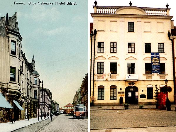 Po prawej: dom Dzieślewskich w Tarnowie (archiwum Marzeny Korendo, prawnuczki prof. Dzieślewskiego)