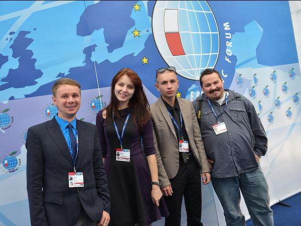 Przedstawiciele mediów polskich i polonijnych za granicą podczas XXIII Forum Ekonomicznego w Krynicy-Zdrój (Fot. Oskar Plonka)