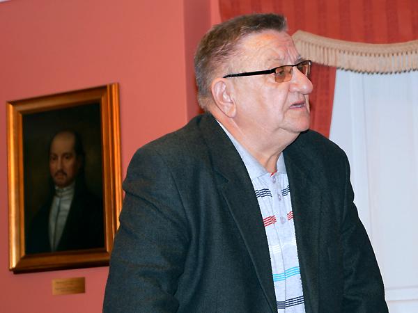 """Pisarz i poeta Stanisław Rogala w Muzeum Juliusza Słowackiego (Fot. archiwum IX """"Dialogu Dwóch Kultur"""")"""