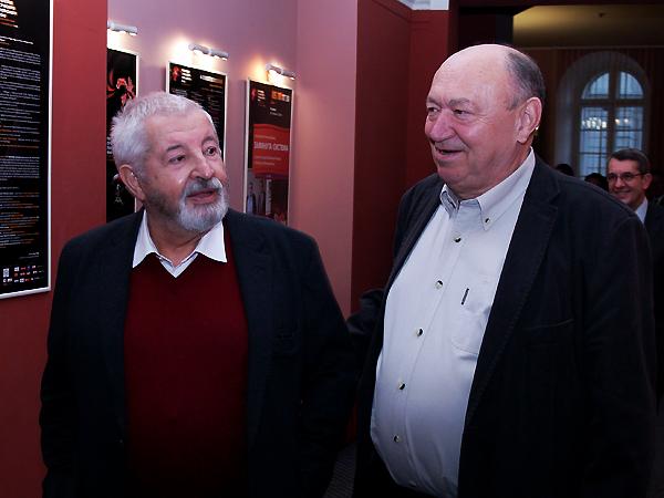 Reżyser Janusz Majewski i producent Włodzimierz Niderhaus (Fot. Eugeniusz Sało)