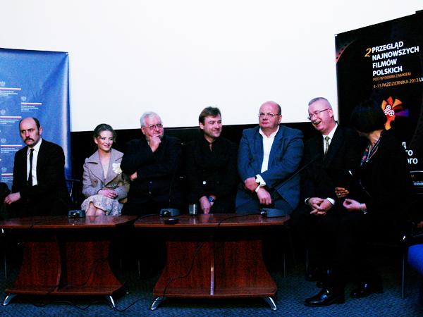 Adam Woronowicz, Waleria Gulajewa, Janusz Zaorski, Andrij Żurba, Mirosław Słowiński, Jarosław Drozd, Zofia Iwanowa (Fot. Eugeniusz Sało)