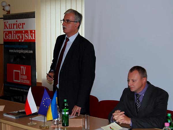 Przemawia Piotr Kościński, Warszawa (Fot. Konstanty Czawaga)