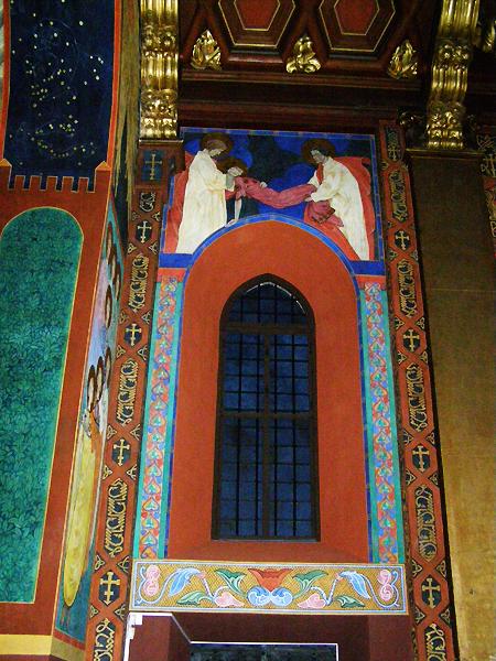 """Freski w katedrze ormiańskiej. """"Śmierć św. Katarzyny Aleksandryjskiej"""" (Fot. Jurij Smirnow)"""