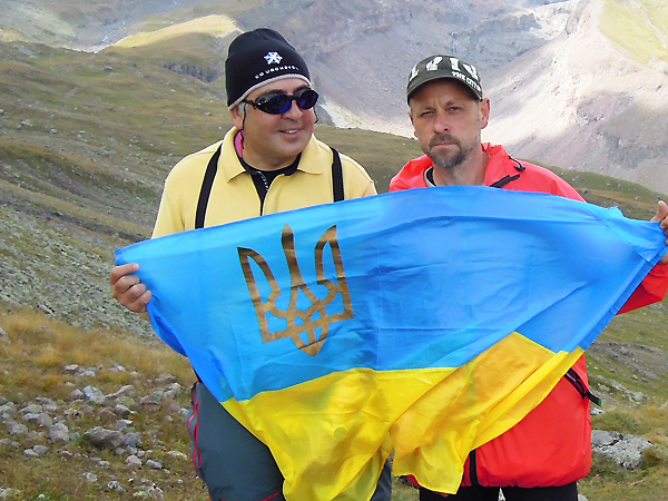 Micheił Saakaszwili i Marian Nyszczuk (Fot. archiwum Mariana Nyszczuka)