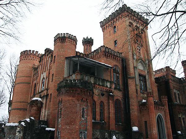 Pałac Sanguszków w Izasławiu częściowo oczyszczony od śmieci i zarośli (Fot. Dmytro Antoniuk)
