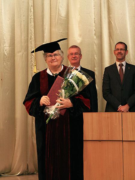 Prof. Katarzyna Chałasińska-Macukow z Instytutu Geofizyki UW (Fot. Leon Tyszczenko)