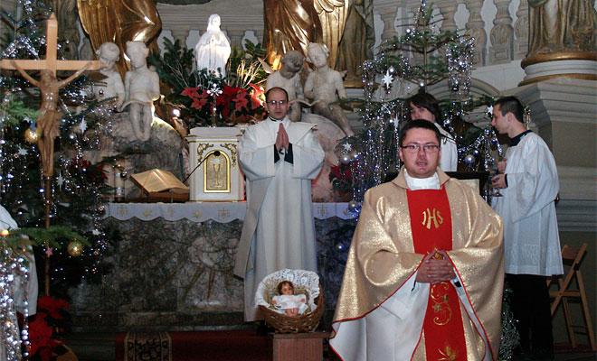 Pasterka w kościele Marii Magdaleny we Lwowie