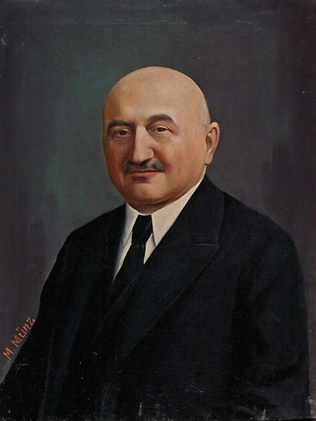Maurycy Allerhand (1868-1942), profesor UJK od 1917 r., portret pędzla Marka Münza. Od 2009 r. prof. Allerhand jest patronem ośrodka zaawansowanych studiów prawnych – Instytut Allerhanda (Fot. z archiwum autora)