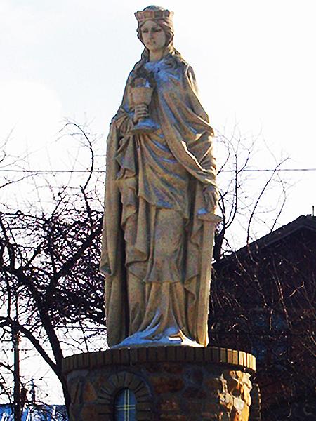 Figura św. Barbary w Borysławiu (Fot. Włodzimierz Kluczak)
