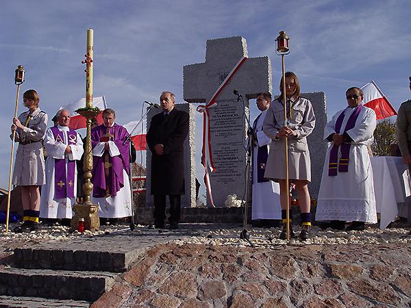 Na uroczystościach w Hucie Pieniackiej (Foto z archiwum KG RP we Lwowie)