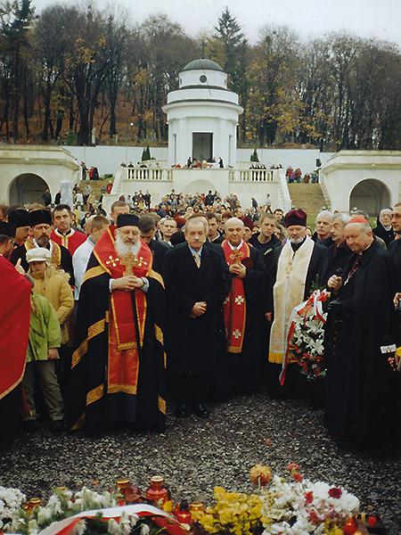 Wspólna modlitwa (Foto z archiwum KG RP we Lwowie)