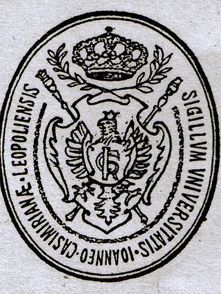 Pieczęć uniwersytetu lwowskiego, 1926 r. (Fot. z archiwum autora)