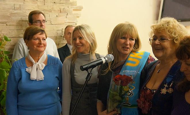 Małgorzata Gosiewska u Polaków w Kijowie