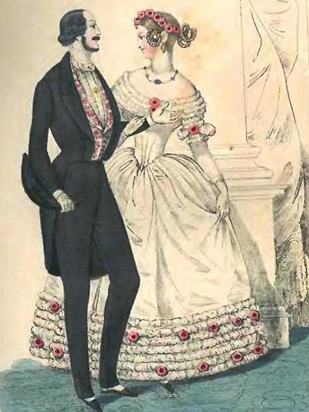 Moda, obowiązująca w karnawale z 1861 roku (Foto archiwalne)