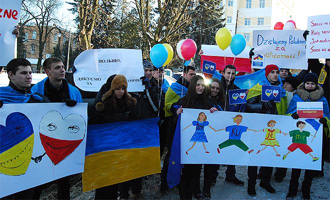Ukraińcy dziękują Polakom