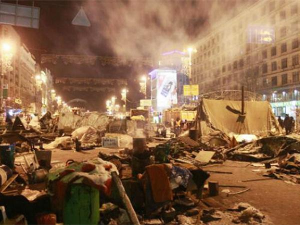 15 ciał na Majdanie w Kijowie