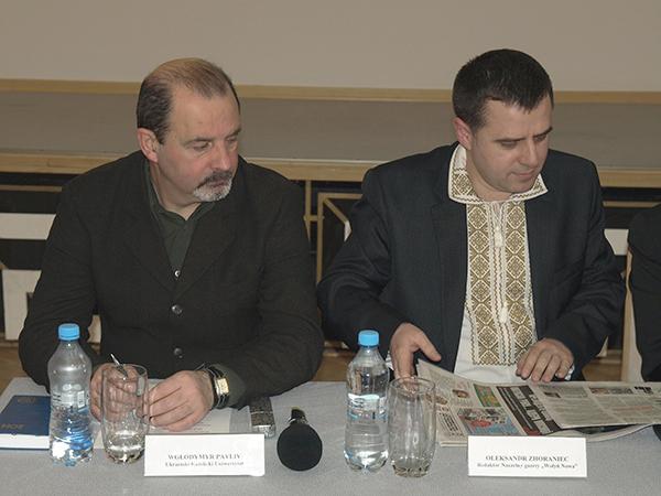 Vołodymyr Pavliv i Ołeksandr Zhoraniec (Fot. Marcin Romer)