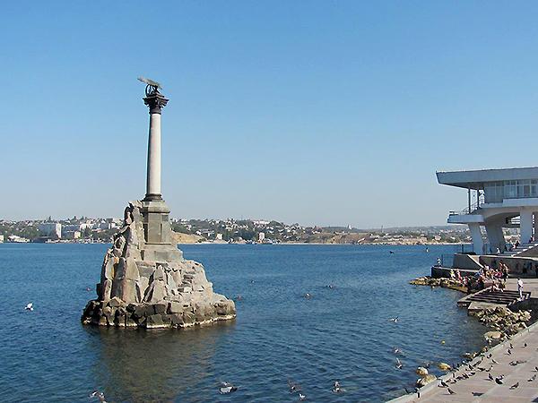 Pomnik zatopionych okrętów w Sewastopolu (Fot. Aleksander Niewiński)