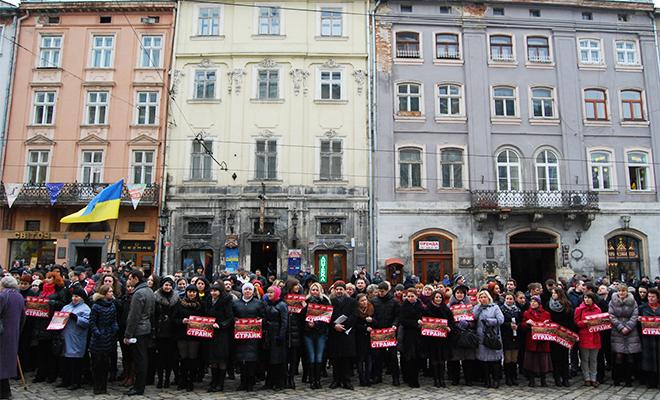 Strajk solidarności z Euromajdanem