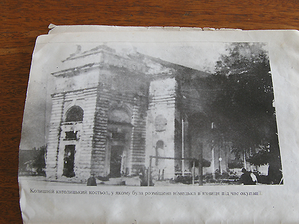 Tak wyglądał kościół w Rzyszczowie (Fot. Dmytro Antoniuk)
