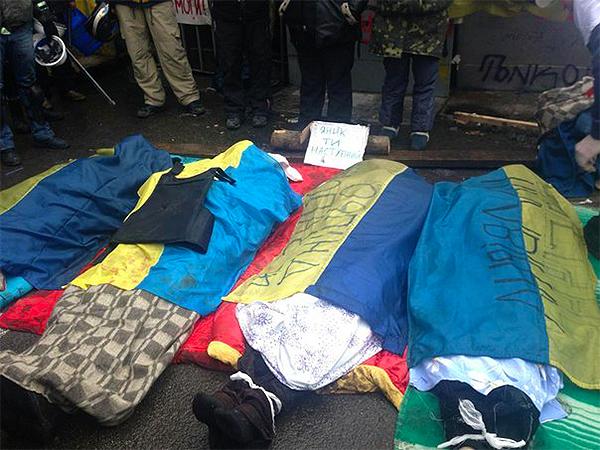 Różne dane ws. ofiar ostatnich zamieszek w Kijowie – do 60 zabitych