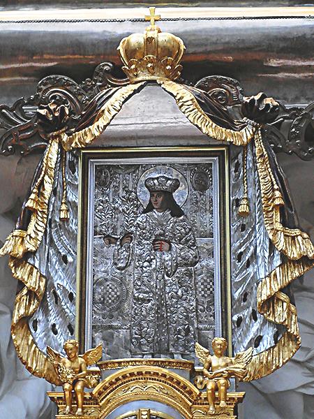 Św. Kazmierz wizerunek z katedry wileńskiej (Fot. Beata Kost)