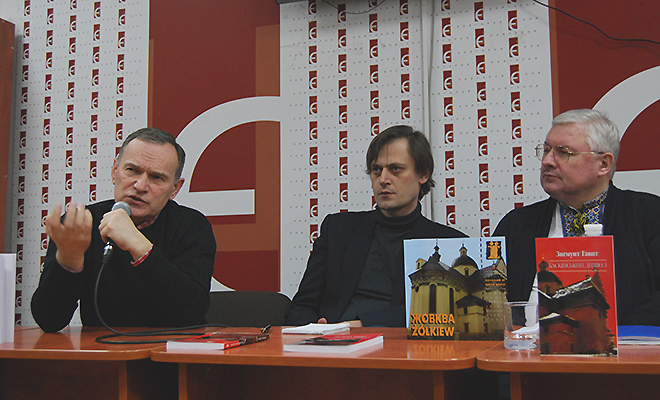 Taras Wozniak, Jurko Prochaśko, Andrij Pawłyszyn (Fot. Konstanty Czawaga)
