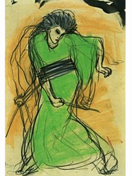 "Pablo Picasso ""La danseuse Sada Yacco"" (Fot. davidoilpainting.com)"