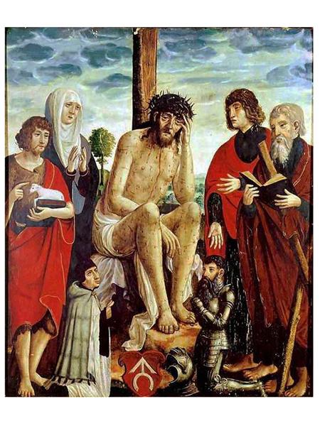 Obraz przypisywany Stanisławowi Samostrzelnikowi (ok. 1515). Muzeum klasztoru Cystersów w Szczyrzycu (Fot. kapliczki.org.pl)