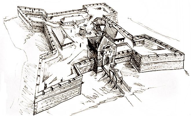 Zamek w Czernelicy za czasów Czartoryskich