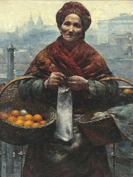"""Maksymilan Gierymski """"Żydówka z pomarańczami"""" (Fot. Wikipedia)"""