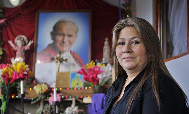 Uzdrowiona przez papieża